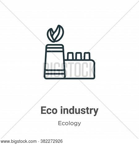 Eco industry icon isolated on white background from ecology collection. Eco industry icon trendy and