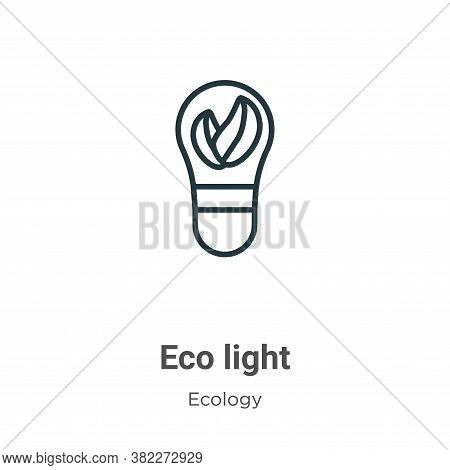 Eco light icon isolated on white background from ecology collection. Eco light icon trendy and moder
