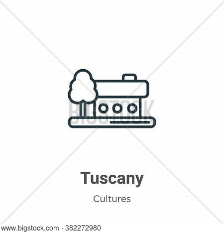 Tuscany icon isolated on white background from cultures collection. Tuscany icon trendy and modern T