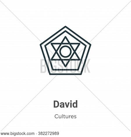 David icon isolated on white background from cultures collection. David icon trendy and modern David