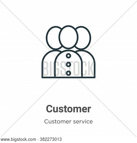 Customer icon isolated on white background from customer service collection. Customer icon trendy an