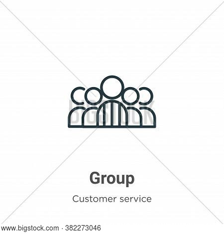 Group icon isolated on white background from customer service collection. Group icon trendy and mode