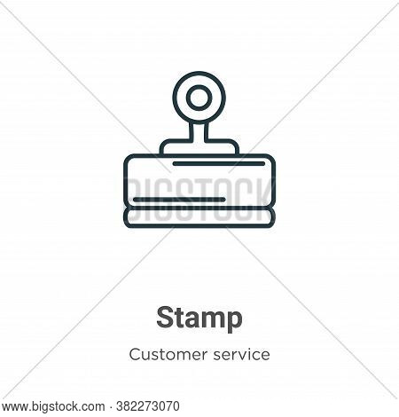 Stamp icon isolated on white background from customer service collection. Stamp icon trendy and mode