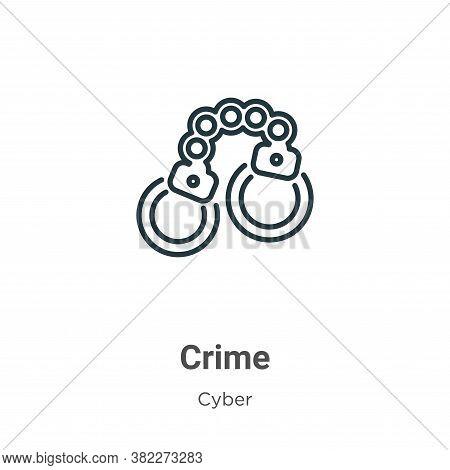 Crime icon isolated on white background from cyber collection. Crime icon trendy and modern Crime sy