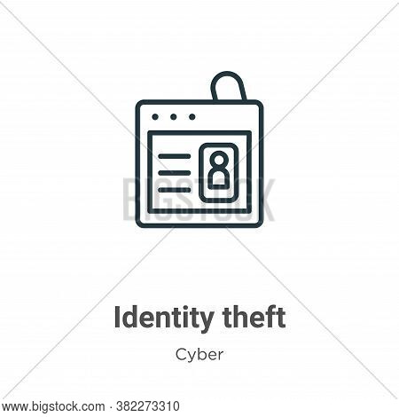 Identity theft icon isolated on white background from cyber collection. Identity theft icon trendy a