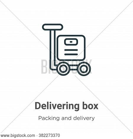 Delivering Box Icon From Packing And Delivery Collection Isolated On White Background.