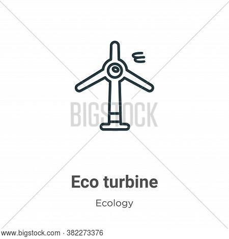 Eco turbine icon isolated on white background from ecology collection. Eco turbine icon trendy and m