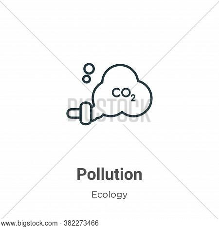 Pollution icon isolated on white background from ecology collection. Pollution icon trendy and moder