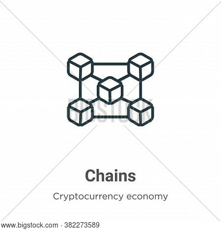 Chains icon isolated on white background from cryptocurrency economy and finance collection. Chains