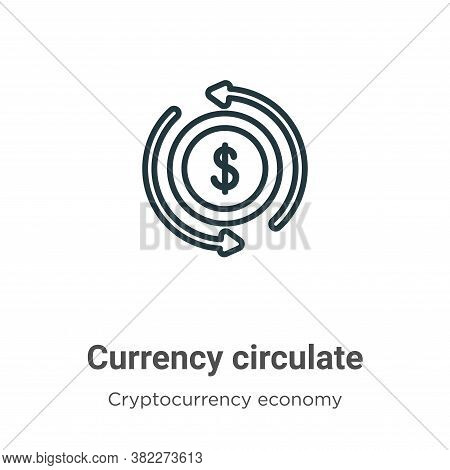 Currency circulate icon isolated on white background from cryptocurrency economy and finance collect