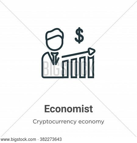 Economist icon isolated on white background from cryptocurrency economy and finance collection. Econ