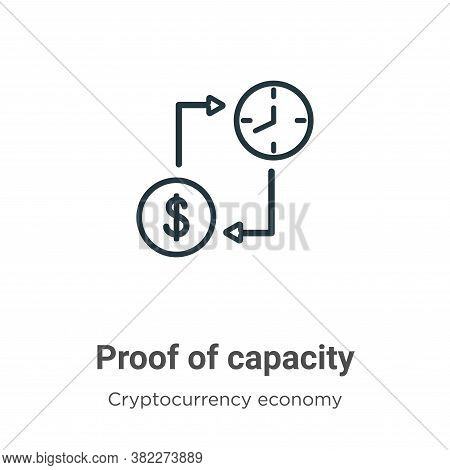 Proof Of Capacity Icon From Blockchain Collection Isolated On White Background.
