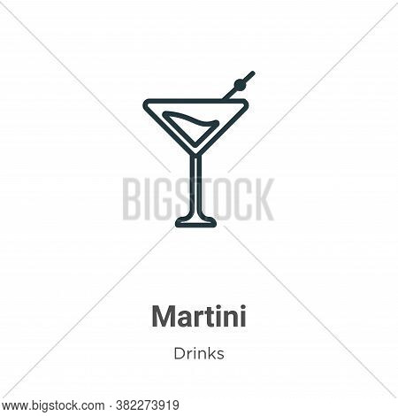 Martini icon isolated on white background from drinks collection. Martini icon trendy and modern Mar