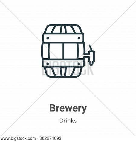 Brewery icon isolated on white background from drinks collection. Brewery icon trendy and modern Bre