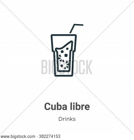 Cuba libre icon isolated on white background from drinks collection. Cuba libre icon trendy and mode