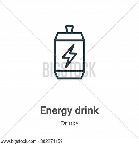 Energy drink icon isolated on white background from drinks collection. Energy drink icon trendy and