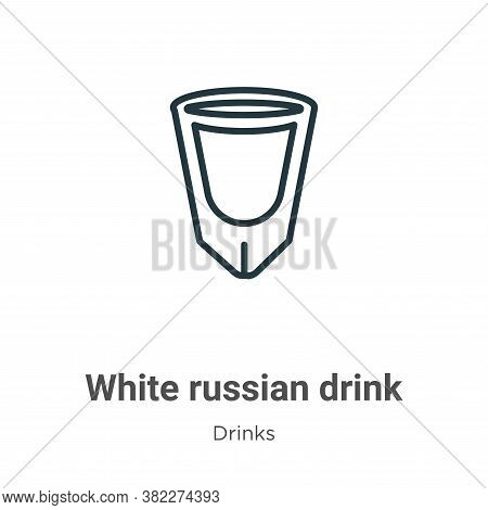 White russian drink icon isolated on white background from drinks collection. White russian drink ic