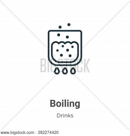 Boiling icon isolated on white background from alcohol collection. Boiling icon trendy and modern Bo