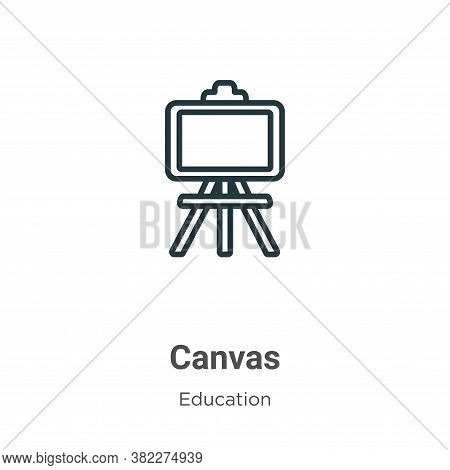 Canvas icon isolated on white background from education collection. Canvas icon trendy and modern Ca