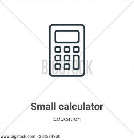 Small calculator icon isolated on white background from education collection. Small calculator icon