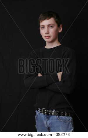 Teen Boy In Black