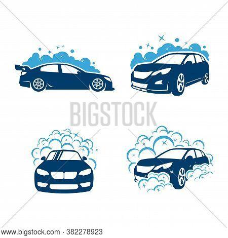 Car Wash, Car Cleaning, Car Logo Vector