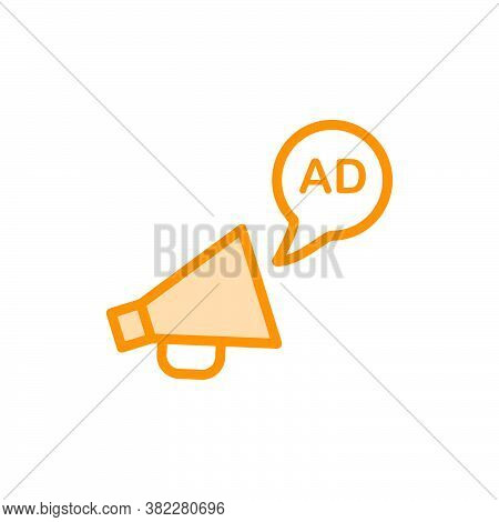 Illustration Vector Graphic Of Advertising Icon Template