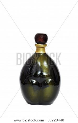 Souvenir Bottle From Seychelles Isolated On A White Background