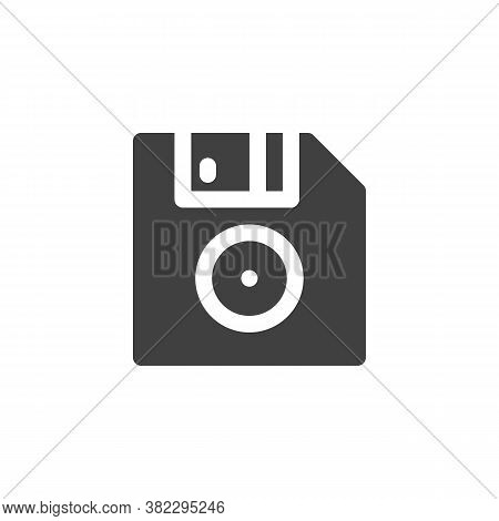 Floppy Disk Vector Icon. Filled Flat Sign For Mobile Concept And Web Design. Computer Diskette Glyph