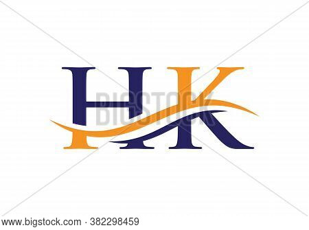 Hk Letter Linked Logo For Business And Company Identity.