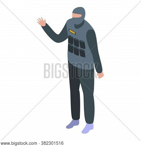 Security Service Special Force Icon. Isometric Of Security Service Special Force Vector Icon For Web