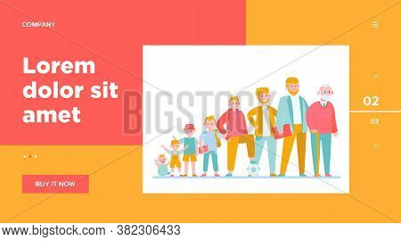 Cartoon Man In Different Age Flat Vector Illustration. Male Character Growth Cycle From Child To Old