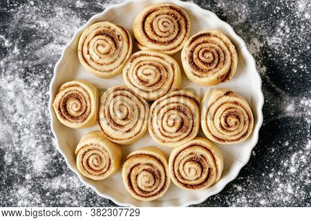Bakery Cookies Delicious Food Closeup Top View Photography. Preparing Gastronomy Traditional Sweet M