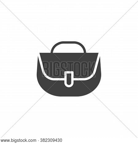 Women Handbag Vector Icon. Filled Flat Sign For Mobile Concept And Web Design. Purse Handbag, Bag Gl