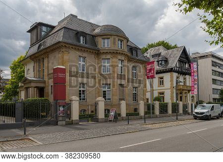 Frankfurt Am Main, Germany-july 28, 2020: Museum Giersch, Art Gallery On The Main River In Frankfurt