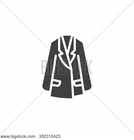Womens Trench Coat Vector Icon. Filled Flat Sign For Mobile Concept And Web Design. Trench Coat Jack