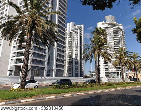 Holon, Israel. August 05, 2020. A View Of A Newly Built Holon Neighborhood From Golda Meir Street. N