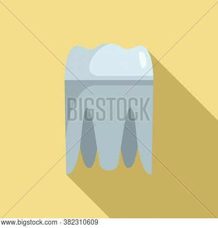 Metal Tooth Implant Icon. Flat Illustration Of Metal Tooth Implant Vector Icon For Web Design