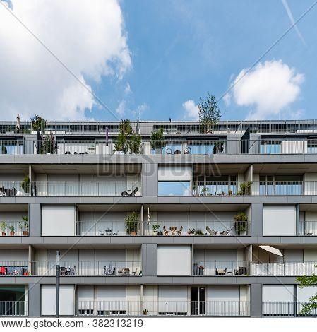 Berlin, Germany - July 29, 2019: Modern Residential Buildings In Berlin Mitte