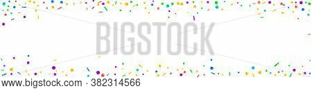 Festive Alluring Confetti. Celebration Stars. Festive Confetti On White Background. Alive Festive Ov