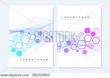 Modern Vector Templates For Brochure, Cover, Flyer, Annual Report, Leaflet. Minimal Covers Design. H