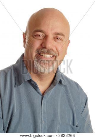 Bald Man Smiling