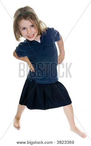 Smiley Happy Child Striking A Pose