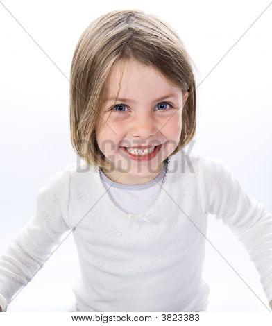 Smiley gelukkig meisje