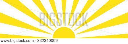 Sun Rays Background Design. Abstract Summer Yellow Background. Sunburst Radiant Backdrop. Vector Eps