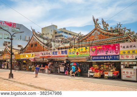August 24, 2020 : Hsinchu City God Temple In Hsinchu, Taiwan, Is The Largest Temple At The Time When