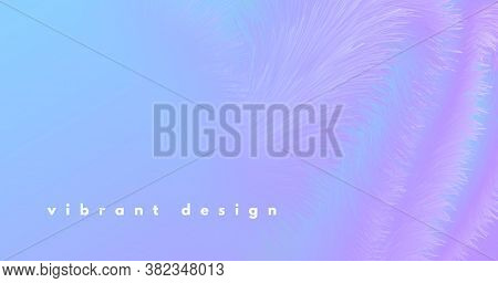 3d Vibrant Background. Pastel Music Shape. Color Creative Concept. Fluid Graphic Motion. Wave Vibran