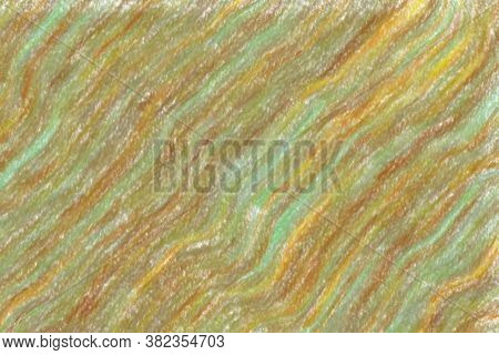 Brown Waves Wax Crayon With Low Coverage Background, Digitally Created.