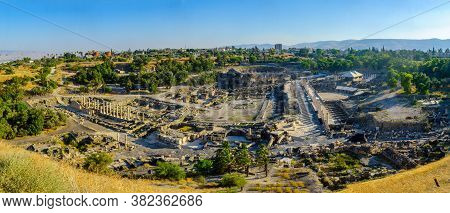 Panoramic View Of The Ancient Roman-byzantine City Of Bet Shean (nysa-scythopolis), Now A National P