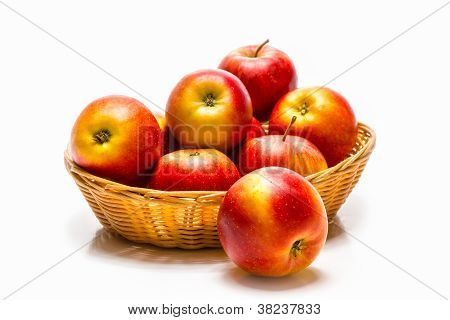 Sweet red apples